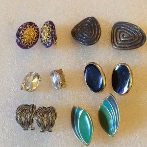 6 pair of earring lot